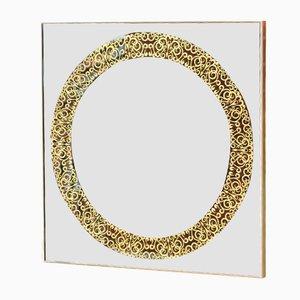 Specchio quadrato in rame e ottone di Alguacil & Perkoff Ltd