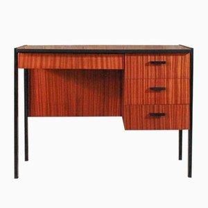 Schreibtisch aus Teak & Stahl, 1950er