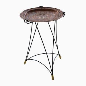 Tavolino vassoio in rame, anni '50