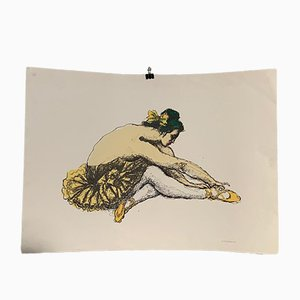Dancer Lithografie von Messina Francesco, 1970er