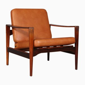 Model EK Rosewood Lounge Chair by Illum Wikkelsø for Niels Eilersen, 1960s