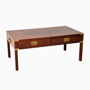 Mahogany & Brass Coffee Table, 1930s