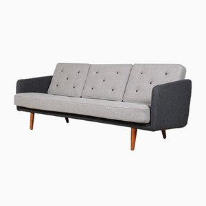 Model 201 Oak and Wool Sofa by Børge Mogensen for Fredericia, 1960s