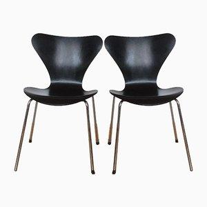 Chaises de Salle à Manger par Arne Jacobsen pour Fritz Hansen, années 70, Set de 2