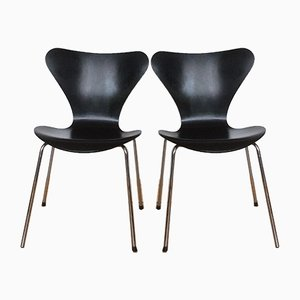 Dining Chairs by Arne Jacobsen for Fritz Hansen, 1970s, Set of 2