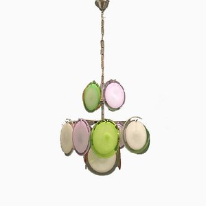 Murano Glass Disc Chandelier, 1970s