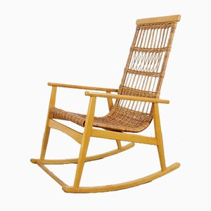 Rocking-chair Mid-Century, années 60