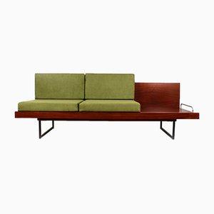 Sofá cama con mesa auxiliar, años 60