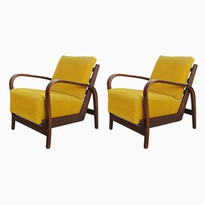 Vintage Armchairs, 1940s, Set of 2