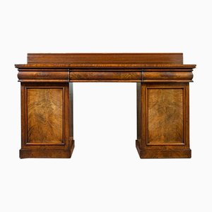 Antique Regency English Mahogany Pedestal Sideboard, 1810s