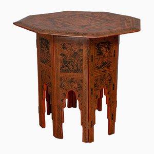 Tavolino da caffè vittoriano antico in olmo