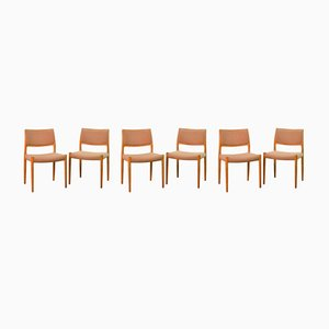 Mid-Century Danish Model 80 Dining Chairs by Niels Otto Møller for J.L. Møllers, 1968, Set of 6