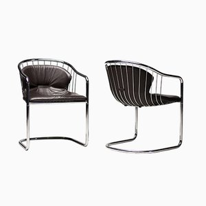 Wire Armchairs by Gastone Rinaldi for Rima, 1979, Set of 2