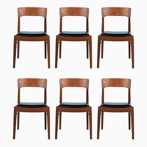 Dänische Mid-Century Esszimmerstühle aus Teak von Kai Kristiansen für KS Møbler, 6er Set