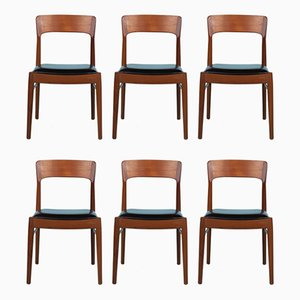 Mid-Century Danish Teak Dining Chairs by Kai Kristiansen for KS Møbler, Set of 6