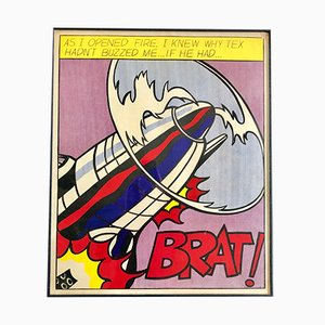 Opened Fire Lithographs by Roy Lichtenstein, 1970s, Set of 3