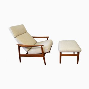 Model FD-164 Lounge Chair and Ottoman Set by Arne Vodder for France & Søn / France & Daverkosen, 1960s