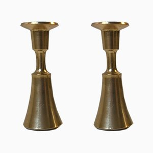 Small Brass Candleholders by Jens Harald Quistgaard for IHQ, 1960s, Set of 2