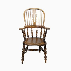 Antique Elm and Ash Armchair