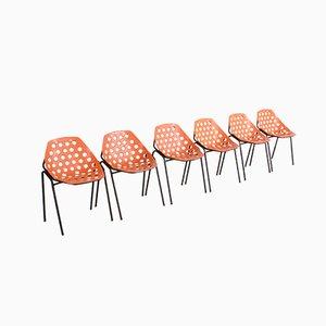Chaises de Salle à Manger Modèle Coquillage par Pierre Guariche pour Meurop, années 60, Set de 6