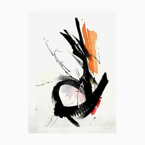 Abstract Composition Lithograph by Jean Miotte, 1990s