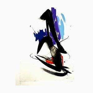 Litografía Abstract Composition de Jean Miotte, años 90