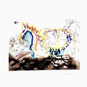 Sea Horse Lithograph by Salvador Dali, 1972