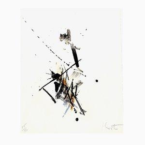 Lithographie Composition Abstraite par Jean Miotte, 1972