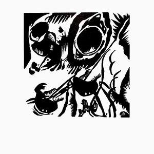 Composition Woodcut par Wassily Kandinsky, 1959
