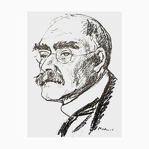 Portrait Lithografie von Maurice Mourlot, 1956