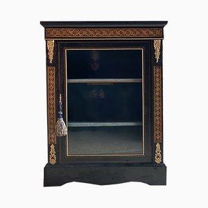 Antique Napoleon III Ebonized Wood Cabinet, 1850s