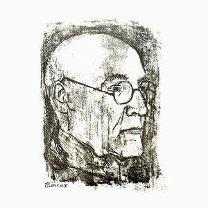 Lithographie Portrait par Andre Minaux, 1951