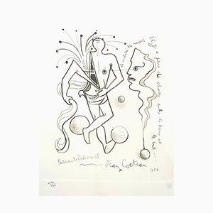 Parametabolismes Lithografie von Jean Cocteau, 1956
