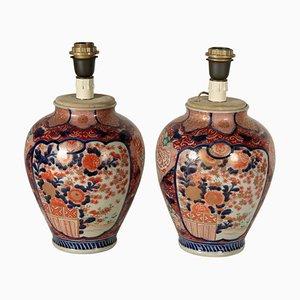 Antike Imari Vasen, 2er Set