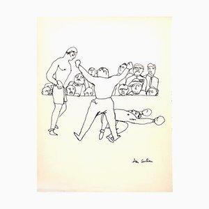 Dessin Le Combat par Jean Cocteau, 1923