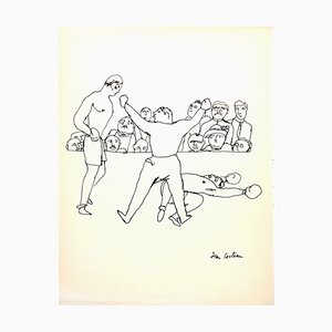 The Fight Drawing by Jean Cocteau, 1923