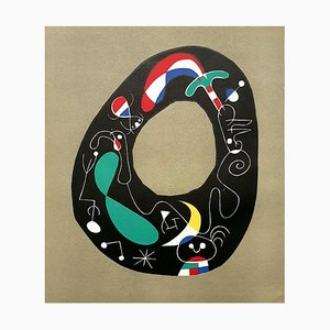 Lithographie The Magic Stone par Joan Miro, 1956