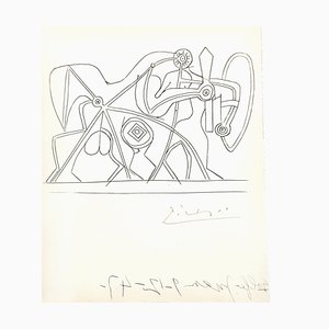 Aguafuerte The Knight de Pablo Picasso, 1948