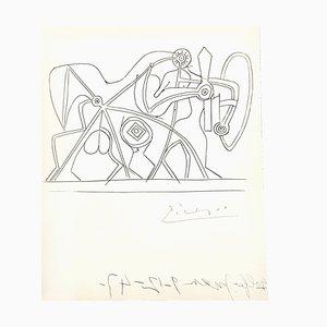 Gravure Le Chevalier par Pablo Picasso, 1948