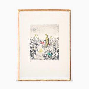 Aguafuerte Solomon ungido de Marc Chagall, 1958