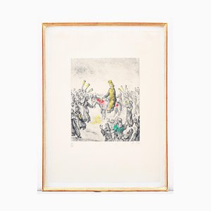 Solomon Anointed King Etching by Marc Chagall, 1958
