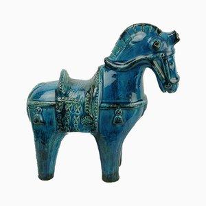 Cavallo Mid-Century in ceramica di Aldo Londi per Bitossi, Italia, anni '60