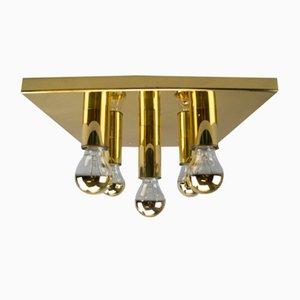 Lámpara de techo alemana vintage de latón, años 60