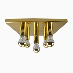 Vintage German Brass Ceiling Lamp, 1960s