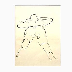 Dessin de Jeune Femme par Jean Cocteau, 1912