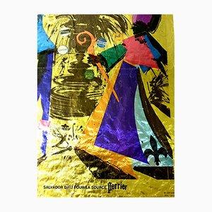 Lithografisches Vintage Poster von Salvador Dali