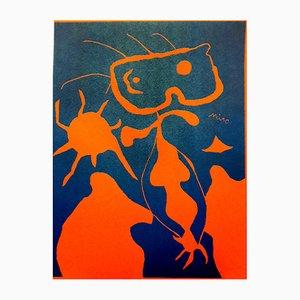 Wove Linocut Mars Paper Poster by Joan Miro, 1938
