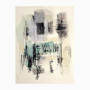 Schablonenzeichnung von Jean Bazaine, 1958