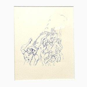 Fear Zeichnung von Tsuhugaru Foujita, 1957
