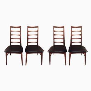 Chaises de Salle à Manger Mid-Century par Niels Koefoed pour Koefoeds Møbelfabrik, Set de 4